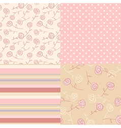 Patterns vintage pink vector