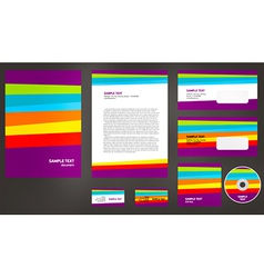 abstract creative corporate identity line colorful vector image vector image