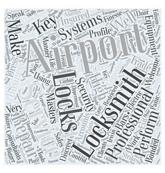 Airport locksmiths word cloud concept vector
