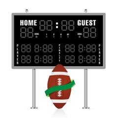 American gridiron scoreboard vector