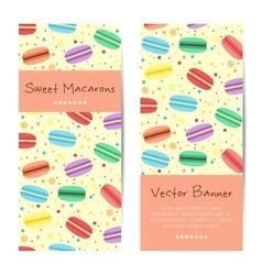 Banners cards with sweet macarons vector