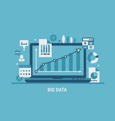 big data analyzing vector image