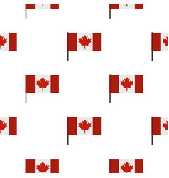 Canadian flag pattern seamless vector