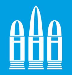 Cartridges icon white vector
