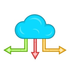 Cloud and arrows icon cartoon style vector image vector image
