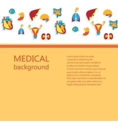 Concept of medical background vector image