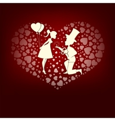 Design in love boy and girl vector