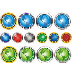 earthbuttons in the form of the planet vector image vector image