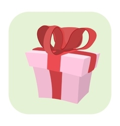 Gift cartoon icon vector image vector image