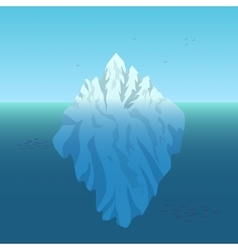 Iceberg background vector