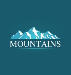 Logo of alpine mountains vector