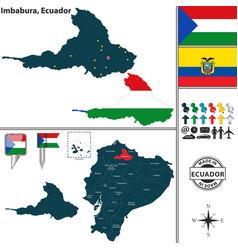 Map of imbabura ecuador vector