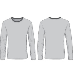 Mens shirts template Front and back views vector image