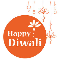or greeting card for diwali vector image