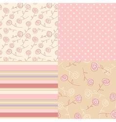 Patterns vintage pink vector