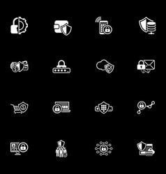 security and protection icons set vector image
