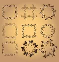 set of vintage design elements8 vector image vector image
