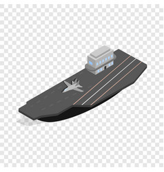 Ship with landing strip for airplanes isometric vector