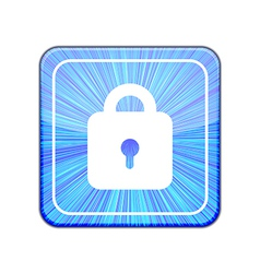 version Lock icon Eps 10 vector image vector image