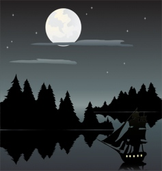 Ship in the night vector