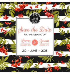 wedding invitation template floral greeting card vector image