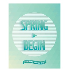 Art poster - spring started vector