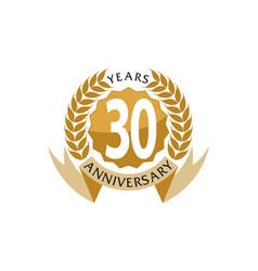 30 years ribbon anniversary vector