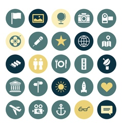 Flat design icons for travel and leisure vector image