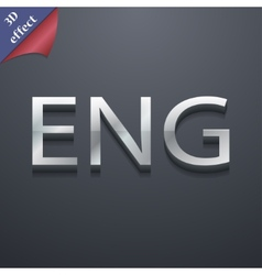 English icon symbol 3d style trendy modern design vector