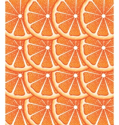 Grapefruit slices background vector