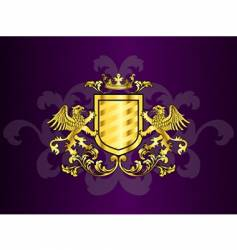 Coat of arms with griffins vector