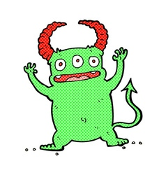 Comic cartoon little devil vector