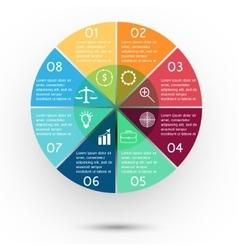 Presentation business circle vector image