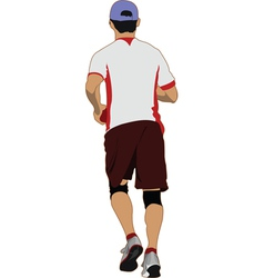 jogger vector image