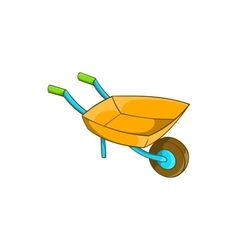 Garden wheelbarrow icon cartoon style vector