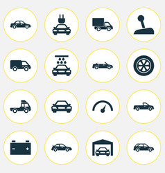 Auto icons set collection of automobile vector