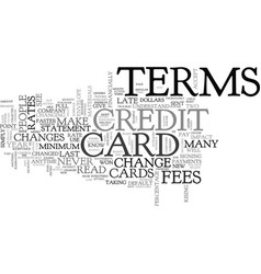 Be aware that credit cards change text word cloud vector