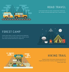 Camping outdoor activity concept backgrounds vector