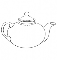 China teapot contour vector