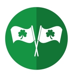 Clover flag ornate st patrick day shadow vector