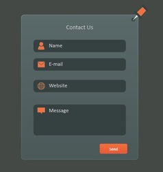 Contact form vector
