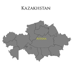 Contour map of kazakhstan 01 vector