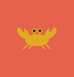Crab in cartoon style seafood product design vector