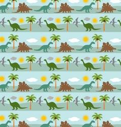 Dinosaur stripe vector