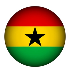 Ghana flag button vector image