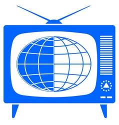 Globe in retro TV vector image vector image