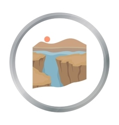 Grand canyon icon in cartoon style isolated on vector