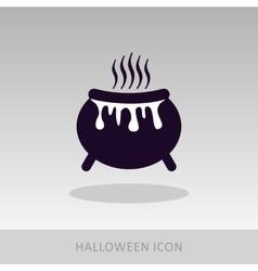 Halloween witch cauldron icon vector