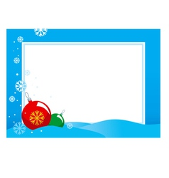 hristmas frame vector image vector image