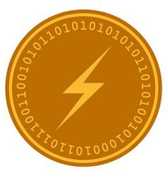 Lightning digital coin vector